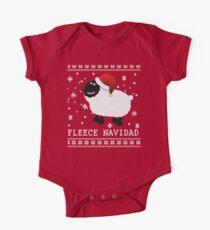 Fleece Navidad Cute Christmas Tshirt One Piece - Short Sleeve