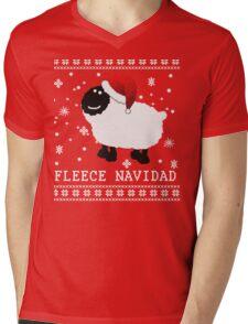 Fleece Navidad Cute Christmas Tshirt Mens V-Neck T-Shirt