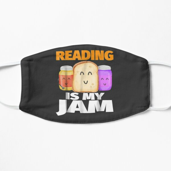 READING IS MY JAM Funny I Love to Read Books Gift Mask