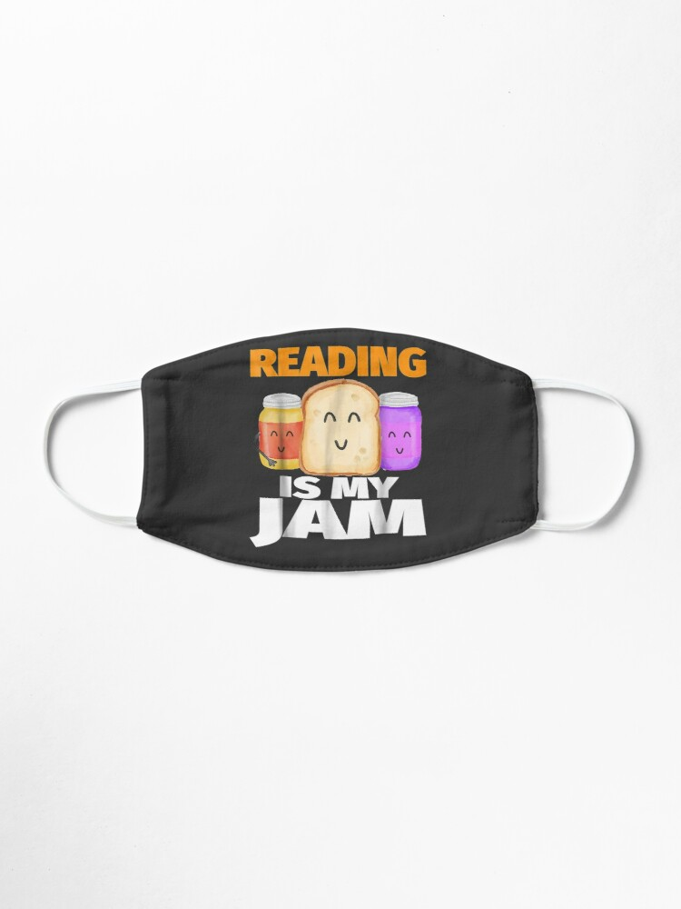 Alternate view of READING IS MY JAM Funny I Love to Read Books Gift Mask