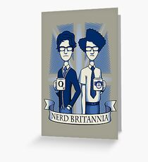 Nerd Britannia Greeting Card