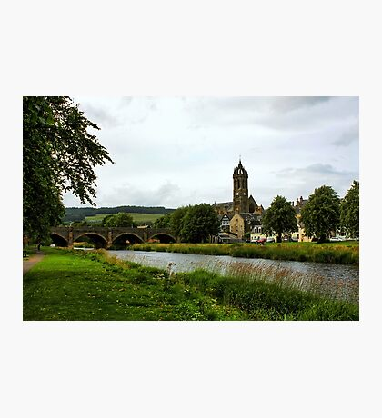 River Tweed at Peebles Photographic Print