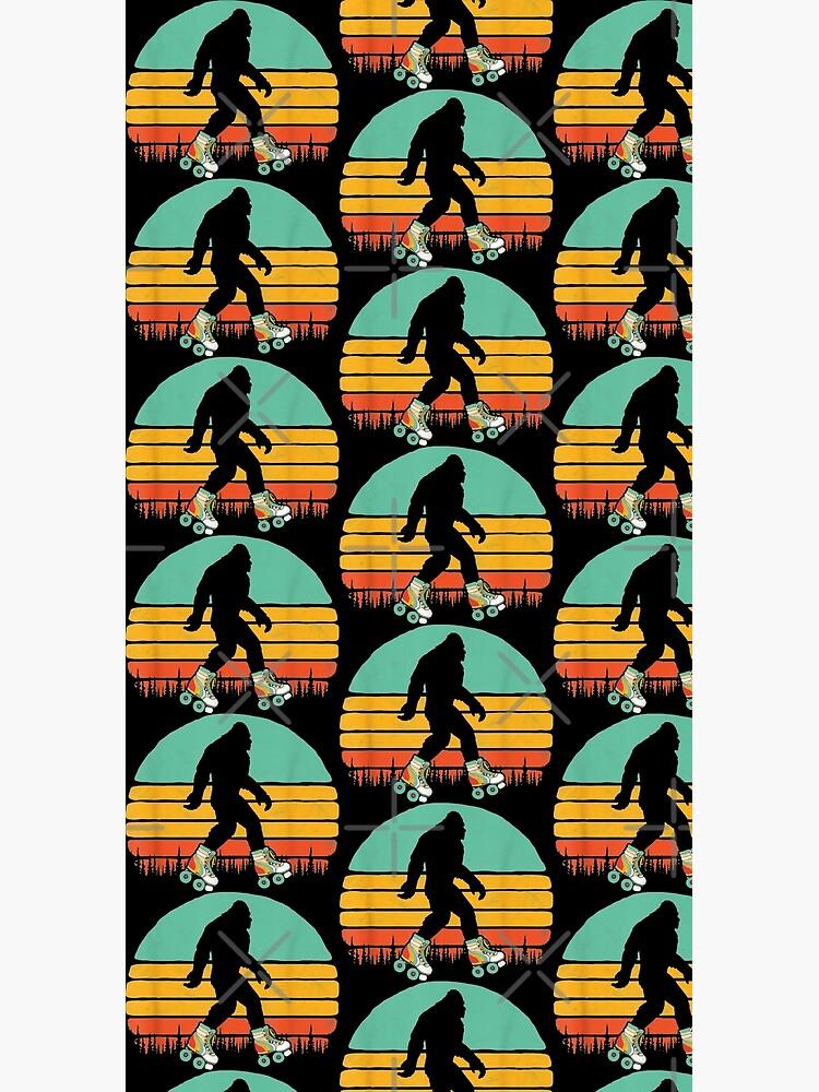 Retro Bigfoot Roller Skating Sasquatch 80s Skater Graphic   by moonchildworld