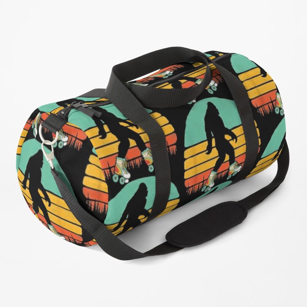 Retro Bigfoot Roller Skating Sasquatch 80s Skater Graphic   Duffle Bag