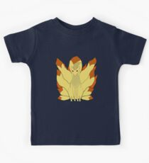 Nintails in fire Kids Tee