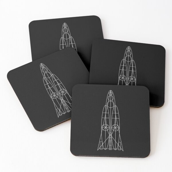 Geometric Rocket Coasters (Set of 4)