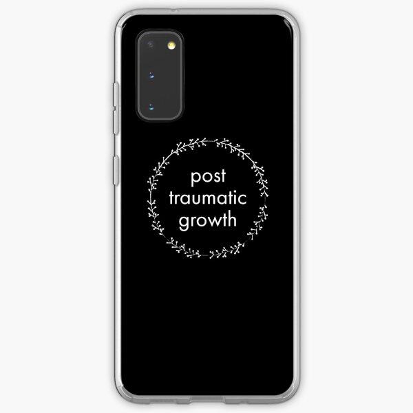 post-traumatic growth mental heath awareness on black Samsung Galaxy Soft Case