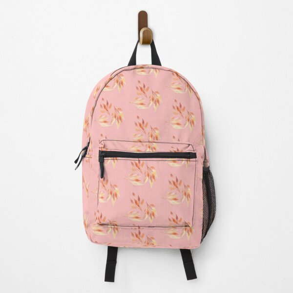 Colorful leaves on a pink background Backpack