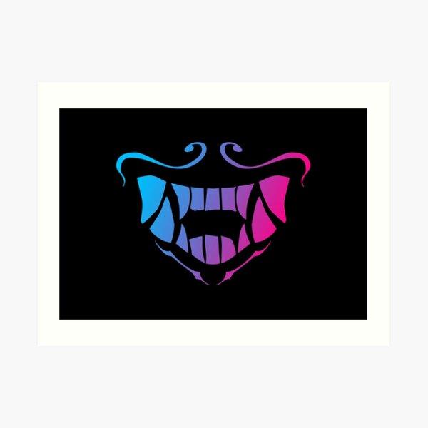 K Da Akali Mask Glow Pattern Art Print By Alxdrake Redbubble