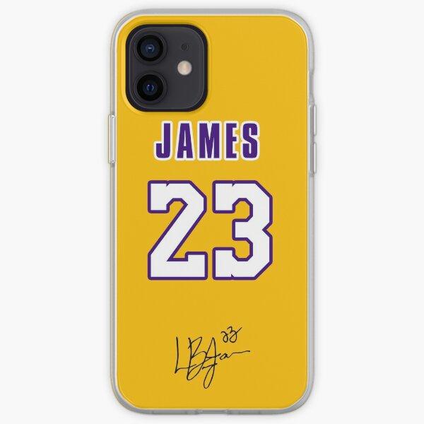 Lebron James avec 23 numéro jaune Coque souple iPhone