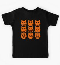 The 9 Lives of the Emoji Cat Kids Tee