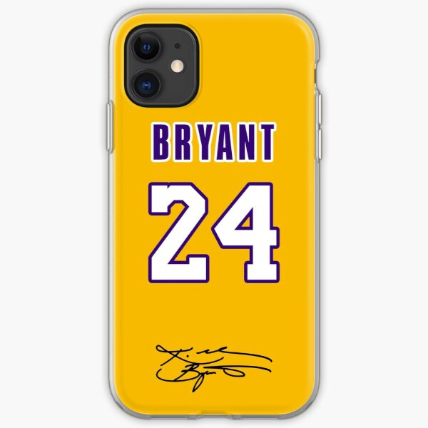 Kobe Bryant with #24 Number Yellow iPhone Soft Case