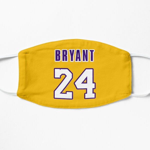 Kobe Bryant with #24 Number Yellow Mask