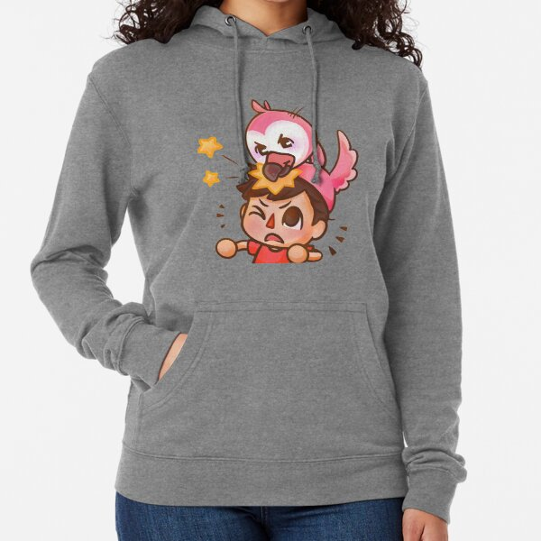 Angry pink Flamingo Funny Lightweight Hoodie