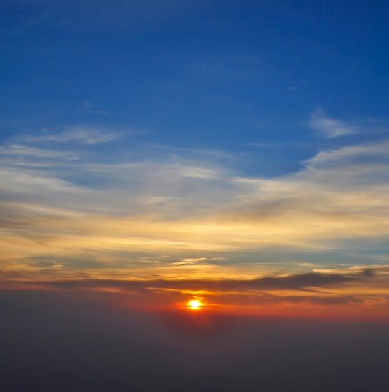 Sun Set as seen from Tiger Hill, Darjeeling, West Bengal, India  by PhotoStock-Isra