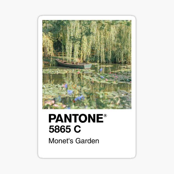 Jardin de Pantone Monet Sticker