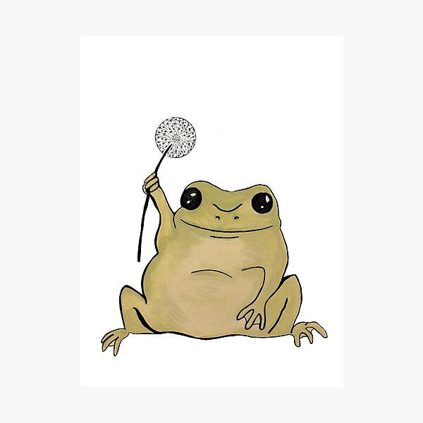 Dandelion Frog Photographic Print