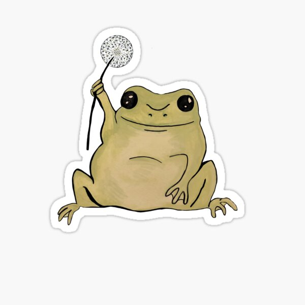 Dandelion Frog Sticker