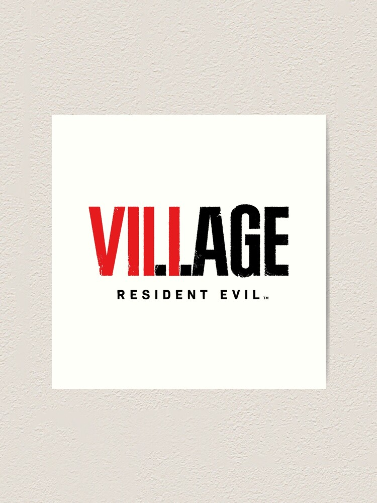 Resident Evil 8 Village Text Logo Art Print By Teestranding