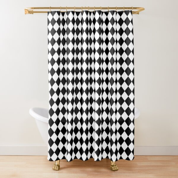 Harlequin  Black Diamonds Shower Curtain