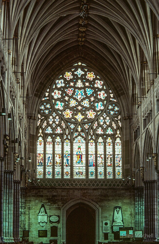 Stained glass window Exeter Cathedral 19810114 0009 by Fred Mitchell