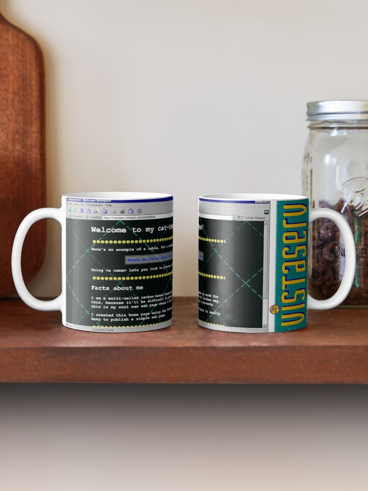 A mug with a screenshot of dddddbbbbb's home page on it