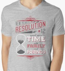 New Year's Resolution #12 - Spend more time... Mens V-Neck T-Shirt