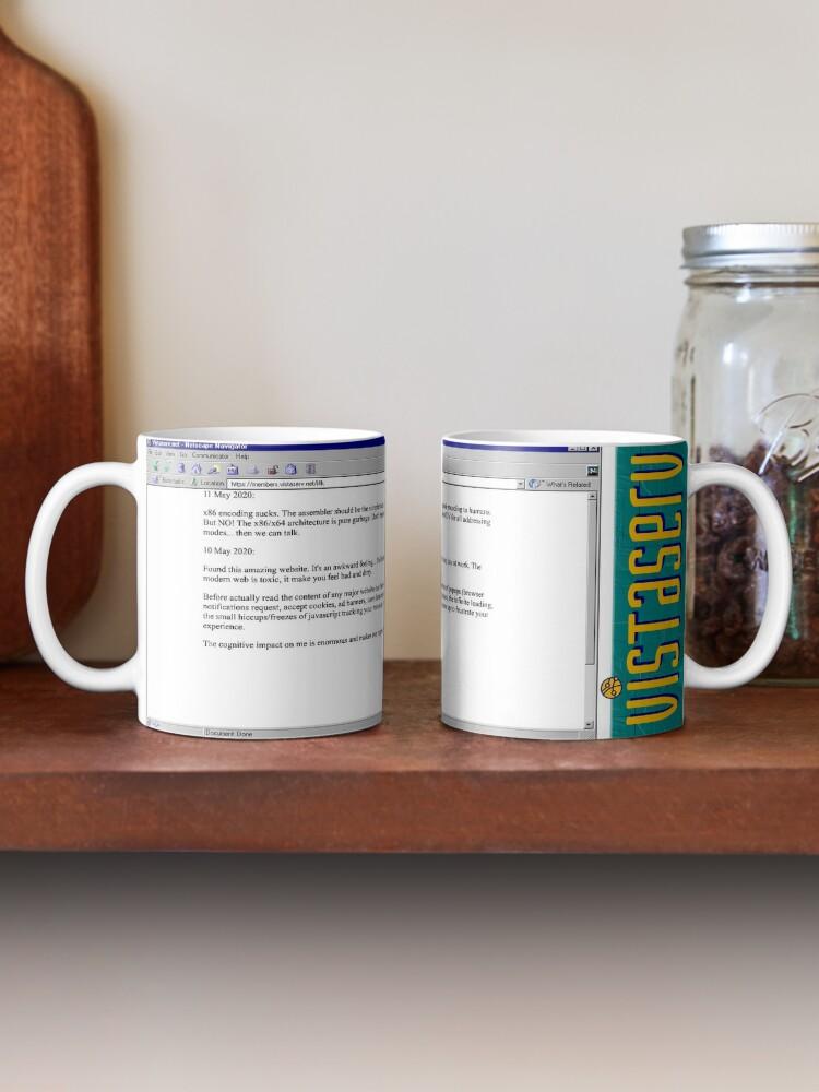 A mug with a screenshot of i4k's home page on it