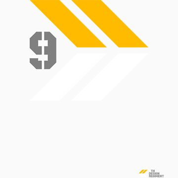 Arrows 1 - Yellow/Grey/White by 9thDesignRgmt
