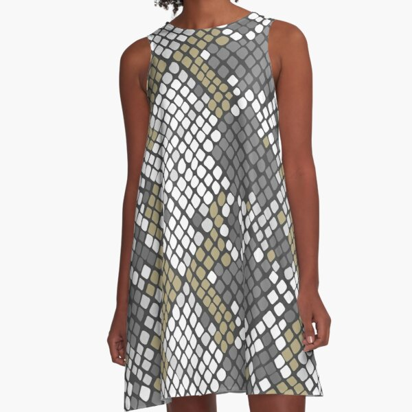 Snake Patterns A-Line Dress