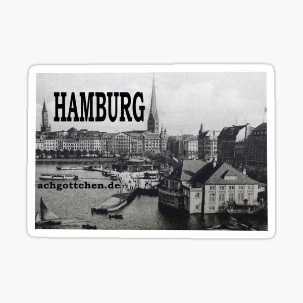Alster Hamburg Jungfernstieg Sticker