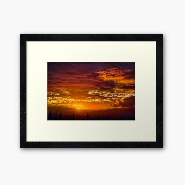 Maui Sunset  - 11/26/12 #1 Framed Art Print