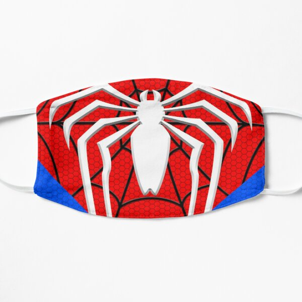 Amazing Spider Hero (Classic Geek Nerdy gamer White Red Blue Web Comics) Mask