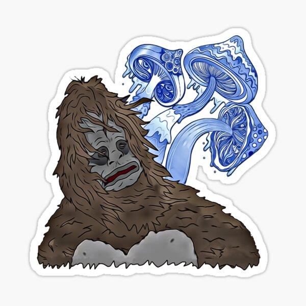 Blue Mean-Eyes Sassy Mike Nolan Big Lez Show Sticker