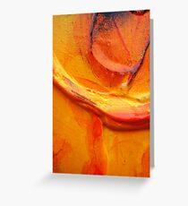 Orange Flower Petal Greeting Card