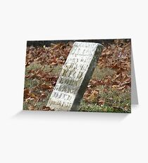 Fallen but not Forgotten Greeting Card