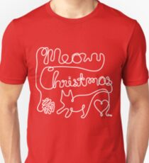 Meowy Christmas - Yarn Cat Love T-Shirt