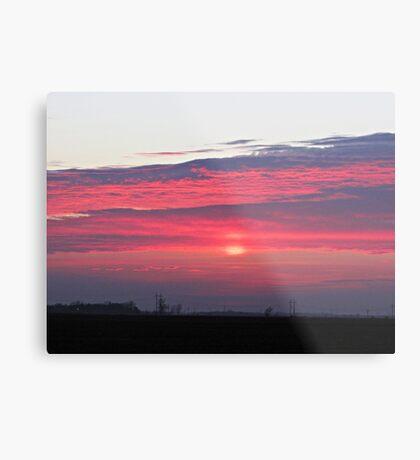 Clouds of Crimson Metal Print