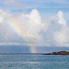 Morning Rainbow, Black Rock - Maui by Barb White
