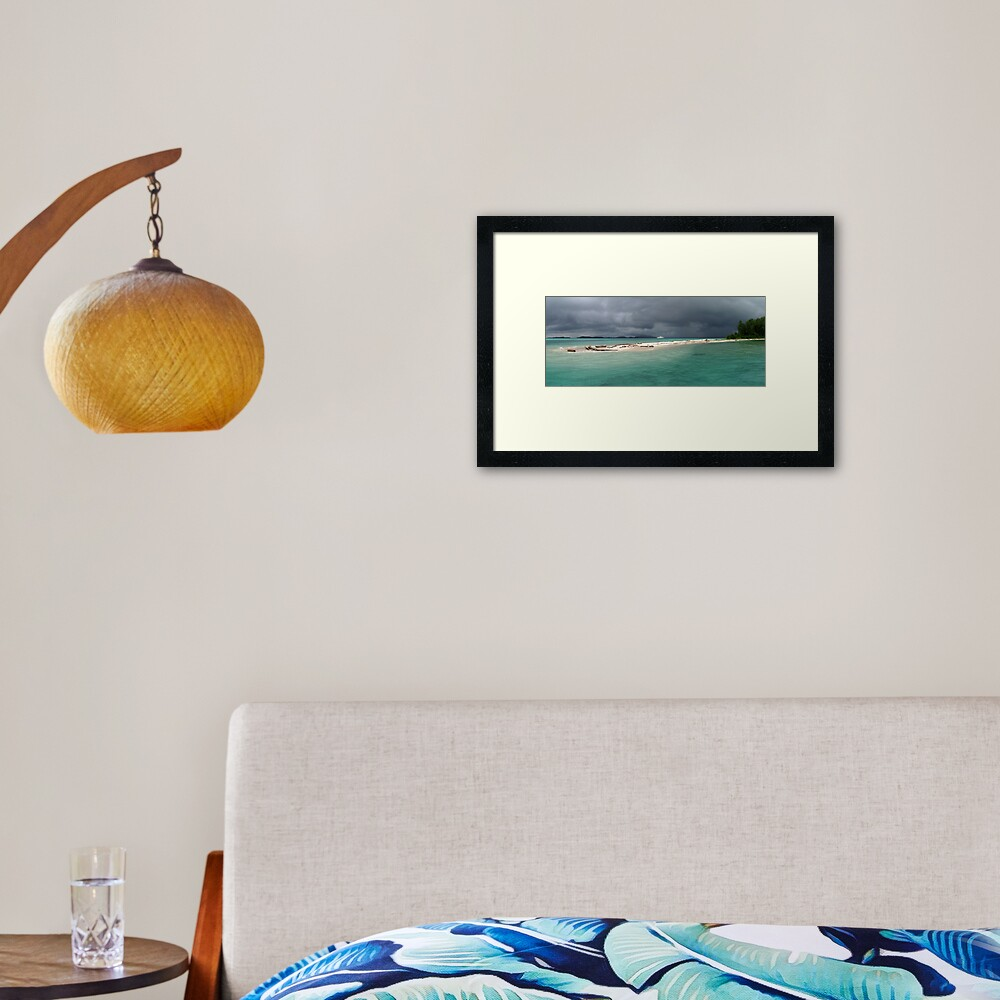 Squall at Hermit Atoll II Framed Art Print