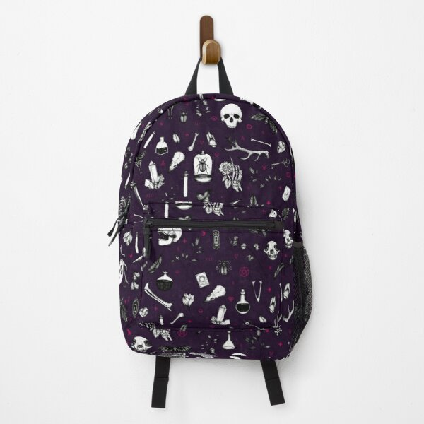 Purple Berry Witchy Pattern Backpack