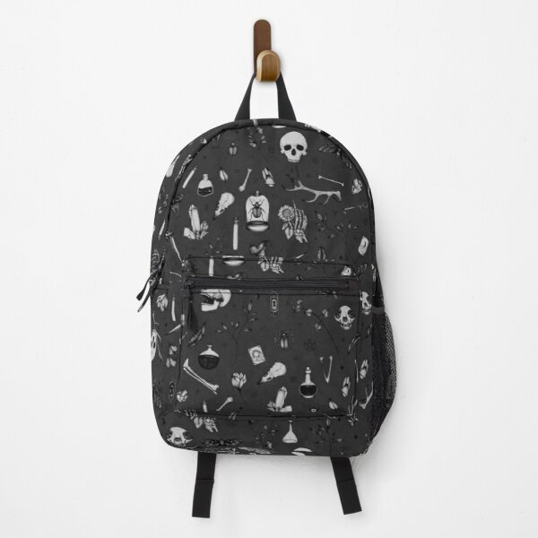 Dark Grey Witchy Pattern Backpack