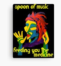 Spoon of music Canvas Print