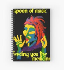 Spoon of music Spiral Notebook