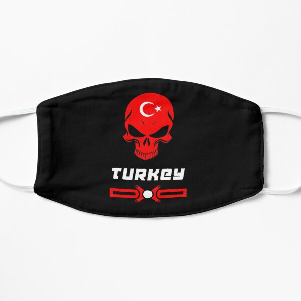 Flag and skull. Great as a gift for Istanbul Flat Mask