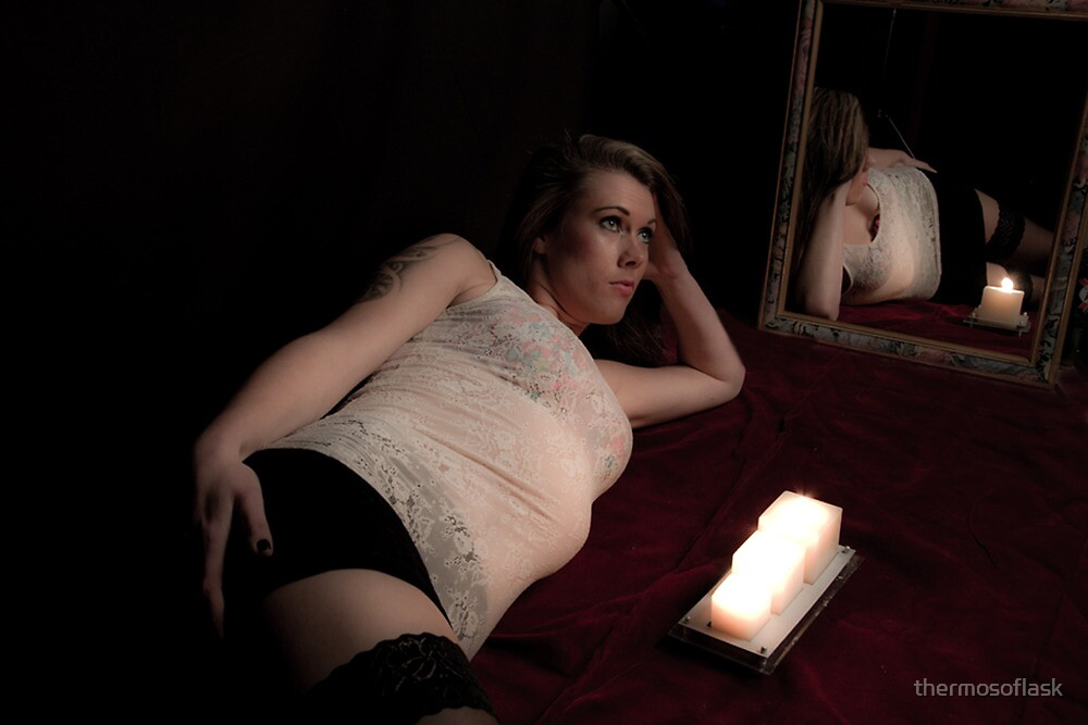 Beautiful Barbra reflecting in the candlelight by thermosoflask