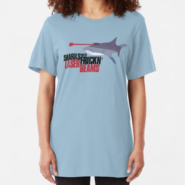 Sharks with frickn laser beams Slim Fit T-Shirt
