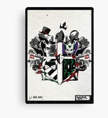 Criminal Coat of Arms- White Canvas Print