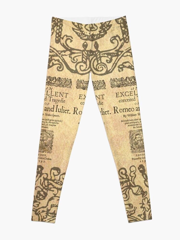 Vista alternativa de Leggings Shakespeare, Romeo and Juliet 1597