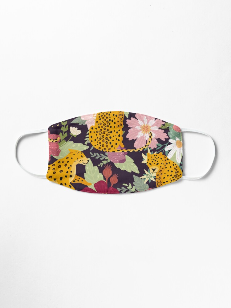Alternate view of floral leopard Mask